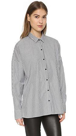Рубашка Chirley С Пуговицами IRO.JEANS                                                                                                              чёрный цвет