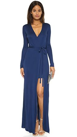 Длинное Платье Antonia ISSA                                                                                                              синий цвет