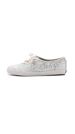 Кроссовки Keds С Блестками Kate Spade New York                                                                                                              белый цвет