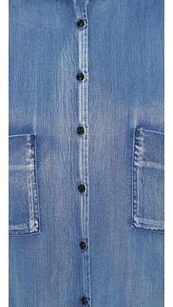 Укороченная Рубашка Maison Scotch                                                                                                              синий цвет