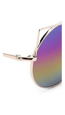 Солнцезащитные Очки В Округлой Оправе Кошачий Глаз Matthew Williamson                                                                                                              Светлое Золото/Радуга цвет