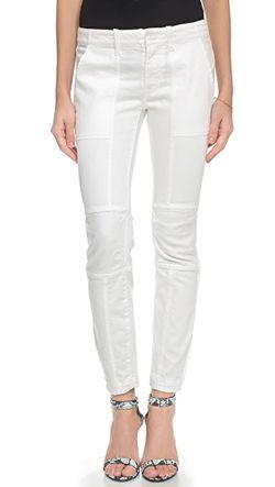 Обрезанные Джинсы Moto Nili Lotan                                                                                                              белый цвет