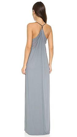 Вечернее Платье Genevieve С Драпировкой ONE by Chris Gramer                                                                                                              Сизый цвет