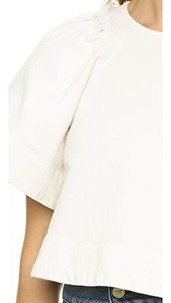 Укороченный Топ Ravine Rachel Comey                                                                                                              Грязно-Белые Потертости цвет