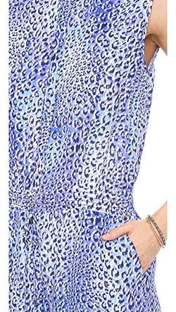 Комбинезон Fever С Леопардовым Принтом Rebecca Taylor                                                                                                              голубой цвет