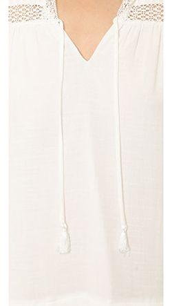 Платье Из Газа С Длинными Рукавами Rebecca Taylor                                                                                                              Снег цвет