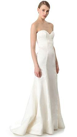 Вечернее Платье Без Бретелек Special Reem Acra                                                                                                              золотой цвет