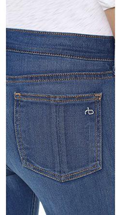 Расклешенные Джинсы Rag & Bone/Jean                                                                                                              синий цвет