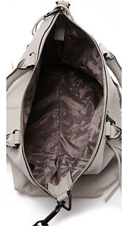 Большая Байкерская Сумка-Портфель Rebecca Minkoff                                                                                                              коричневый цвет