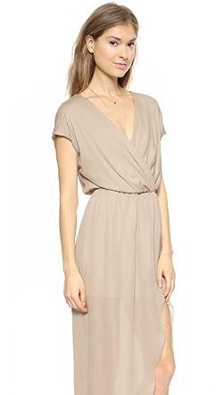 Вечернее Платье С Запахом Plaza Rory Beca                                                                                                              голубой цвет