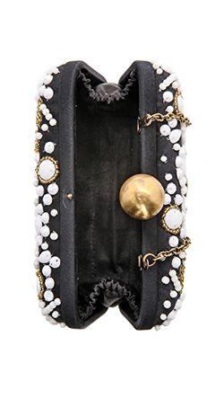 Прямоугольный Клатч Расшитый Бисером Santi                                                                                                              чёрный цвет