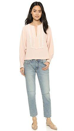 Блуза С Вышивкой See By Chloe                                                                                                              розовый цвет