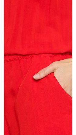 Плетеный Комбинезон Без Рукавов Splendid                                                                                                              красный цвет
