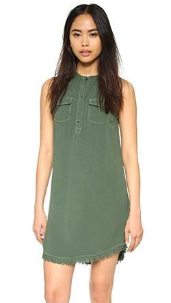 Платье-Рубашка Без Рукавов Splendid                                                                                                              Милитари цвет