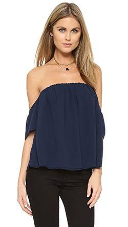 Блуза Со Спущенными Плечами MISA                                                                                                              синий цвет