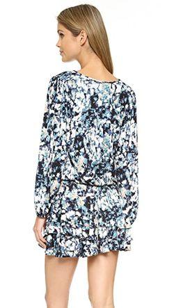 Мини-Платье С Каплевидными Вырезами MISA                                                                                                              цветочный цвет