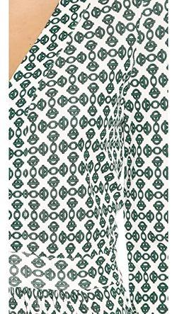 Платье Из Матового Джерси Tory Burch                                                                                                              Английские Зеленые Цепочки цвет