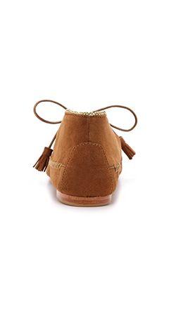 Замшевые Мокасины Lia Ulla Johnson                                                                                                              коричневый цвет