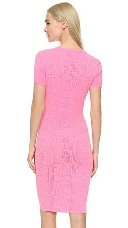 Трикотажное Платье С Короткими Рукавами Versace                                                                                                              розовый цвет