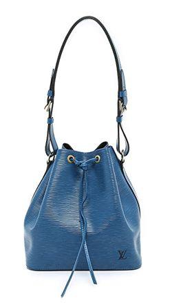Миниатюрная Сумка Louis Vuitton Epi Noe What Goes Around Comes Around                                                                                                              голубой цвет