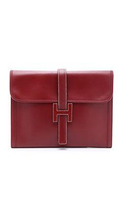 Клатч Jige От Hermes Бывший В Употреблении What Goes Around Comes Around                                                                                                              красный цвет