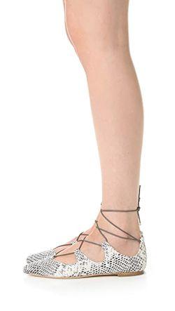 Балетки Ambra Со Шнуровкой Loeffler Randall                                                                                                              черный цвет