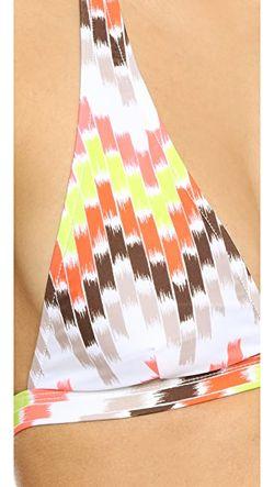 Лиф Бикини Chevron Capri С Завязками Через Milly                                                                                                              оранжевый цвет