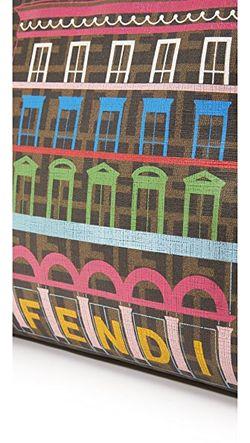 Сумка На Ремне Fendi Palazzo Бывшая В What Goes Around Comes Around                                                                                                              многоцветный цвет