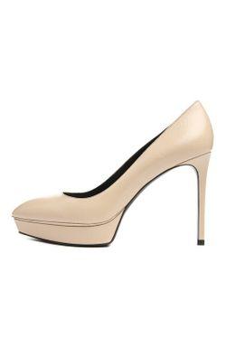 Кожаные Туфли Janis На Шпильке Saint Laurent                                                                                                              Кремовый цвет