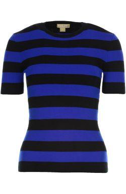 Вязаный Пуловер Michael Kors                                                                                                              синий цвет