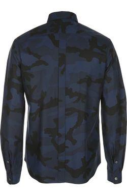 Принтованная Рубашка С Воротником Кент Valentino                                                                                                              синий цвет