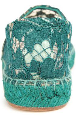Эспадрильи Из Кружева Taormina Dolce & Gabbana                                                                                                              Морской Волны цвет