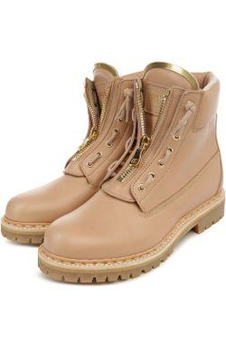 Ботинки В Стиле Милитари На Молнии Balmain                                                                                                              бежевый цвет