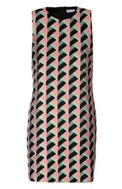 Прямое Мини-Платье С Ярким Принтом Redvalentino Red Valentino                                                                                                              многоцветный цвет