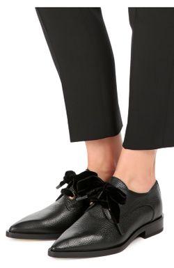 Кожаные Ботинки С Зауженным Мысом Lanvin                                                                                                              черный цвет