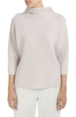 Пуловер Фактурной Вязки С Высоким Воротником И Armani Collezioni                                                                                                              бежевый цвет
