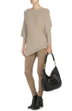 Удлиненный Кашемировый Пуловер С Вырезом-Лодочка Ralph Lauren                                                                                                              бежевый цвет