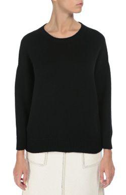 Кашемировый Пуловер Свободного Кроя Со Спущенным Рукавом Saint Laurent                                                                                                              чёрный цвет