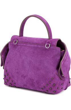 Замшевая Сумка Micro Wave Tods Tod'S                                                                                                              фиолетовый цвет
