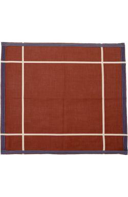 Хлопковый Носовой Платок В Клетку Simonnot-Godard                                                                                                              красный цвет