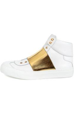 Кожаные Высокие Кеды Archie Jimmy Choo                                                                                                              белый цвет