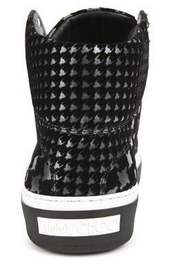 Кожаные Высокие Кеды Argyle Jimmy Choo                                                                                                              черный цвет