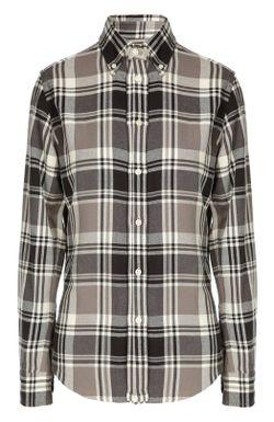 Клетчатая Рубашка Из Хлопка Polo Ralph Lauren                                                                                                              белый цвет