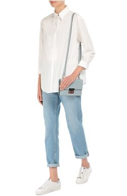 Хлопковая Блуза Прямого Кроя Acne                                                                                                              белый цвет