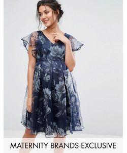 Chi Chi Maternity | Платье С Цветочным Принтом И Рукавами-Оборками Chi Chi London Maternity