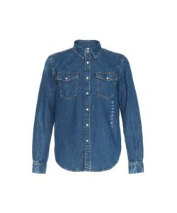 8f64583c2df Givenchy - Printed Logo Denim Button-Up Shirt