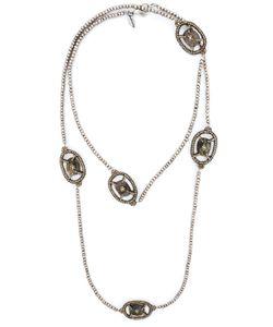 Roni Blanshay   Stone Embellished Beaded Necklace