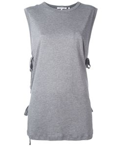 Helmut Lang | Lace-Up Laterals Sleeveless T-Shirt Medium Cotton/Cashmere