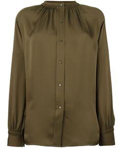 Vince | Ribbed Trim Shirt Medium Silk