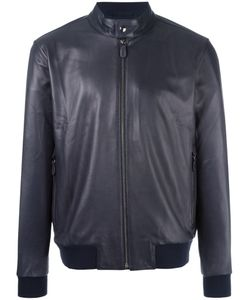 Z Zegna | Banded Collar Leather Jacket Size Small Lamb